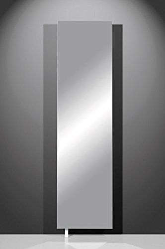 Spiegelschuhschrank/Mehrzweckdrehschrank in weiß mit Spiegelfront, Maße: B/H/T ca. 50/195/18 cm