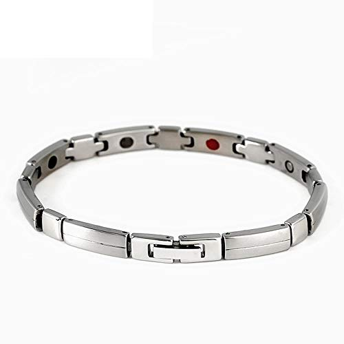 - ZHXHX 4-in-1 Anion Element Magnet Bracelet, Titanium Steel Ladies Bracelet