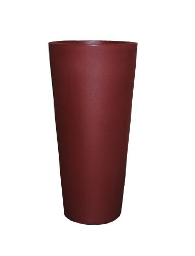 Tusco Products CTR20OB Cosmopolitan Round Garden Planter, 20-Inch, Oxblood