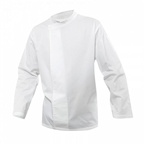 Premier Unisex Culinary Pull-on - Chefs Long Sleeve Tunic (S (40 inch Chest)) (White)