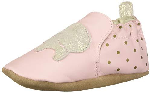 (Robeez Girls' Soft Soles Crib Shoe, Pink, 12-18 Months)