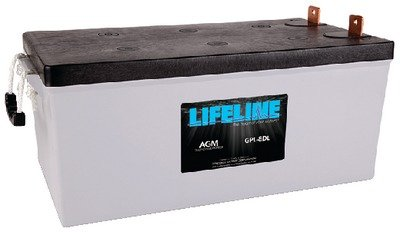 New Lifeline Agm Batteries batteries Llgpl8dl Group 8D MCA 1675 AH 255 RC 475 20.76