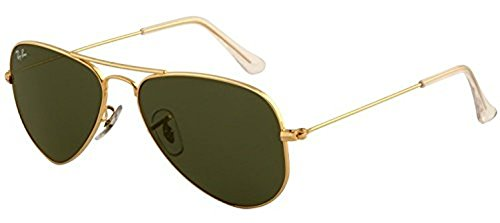 Ray-Ban Aviator Small Metal RB 3044 Sunglasses Arista / Crystal Green (L0207) 52mm & HDO Cleaning Carekit - Aviator Metal Ban Ray Small