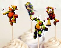 (Teenage Mutant Ninja Turtles Cupcake Toppers Birthday Party Ninja Turtles Cake Toppers Pack of)