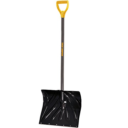 True Temper 18-Inch Snow Shovel with Resin-Coated Steel Handle - 1627200