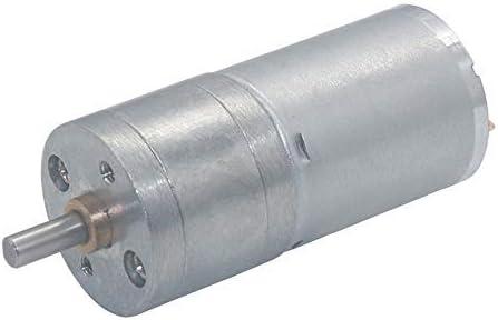 Eje de salida céntrico de motor de engranajes con reducción de velocidad, microeléctrico de par alto de motor de engranajes de CC 24 V, 17 rpm.