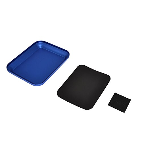 RCAIDONG Aluminium Alloy Magnetic Screw the Tray wiht Magnetic for RC Crawler Car Boat Drone Quadcopter Model Cell Phone Repair Tool (blue)