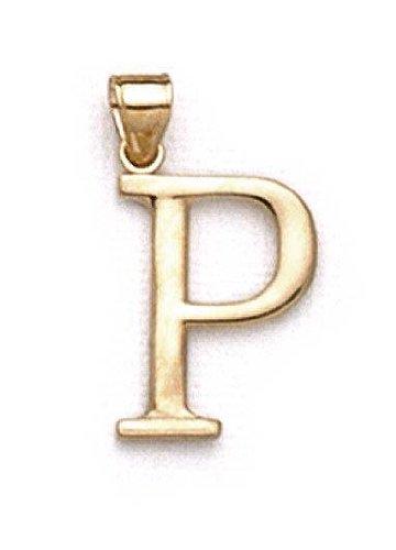 "P 14 Carats Pendentif initiale 1 3/8 ""longue JewelryWeb"