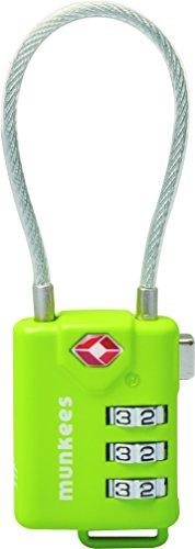 munkees TSA Kabel-Zahlenschloss, Vorhängeschloss, 3609
