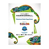 Hammermill Paper, Premium Color Copy Cover Cardstock 8.5 x 11 Paper, Letter Size, 80lb Paper, 100 Bright, 1 Pack / 250 Sheets (120023R) Heavy Paper, Card Stock White