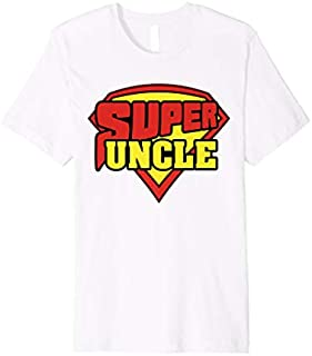 Birthday Gift 'Super Uncle Superhero Uncle' Hilarous Uncle Gift  Short and Long Sleeve Shirt/Hoodie