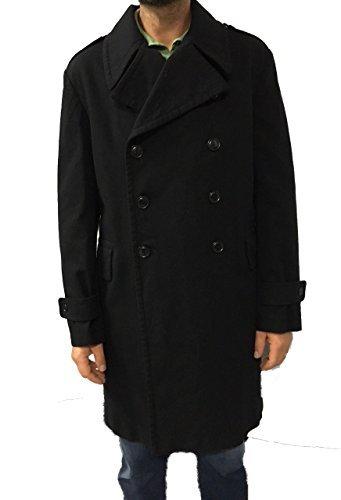 ASPESI manteau homme noir mod A AC13 B551 TITO 40% laine 40%coton 15% polyester 5% autres fibre