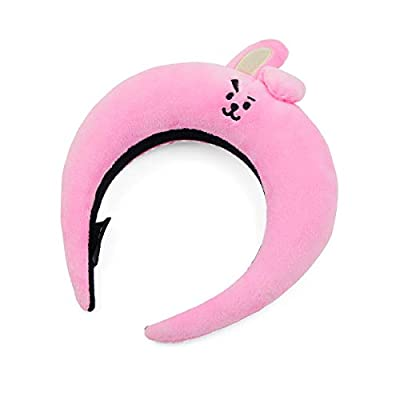BT21 Official Merchandise by Line Friends - COOKY Character Face Plush Padded Headbands: Beauty