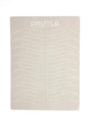 PMU LA Pre-shaped Eyebrow Microblading Practice Skin | Double-Sided & NO INK needed Fake Skin 10pcs pack | PMU supply | Tattoo kit |