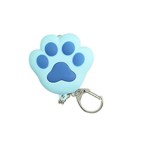 LED Light Cat Paw Keychain With Sound Lover Gift Child Toy Cat Toy Key Ring Key Flashlight Key Chain Flashlights (Blue)