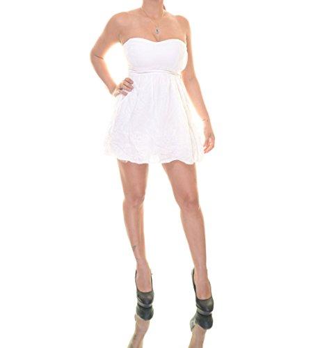 Strapless Cotton Eyelet Dress - 4