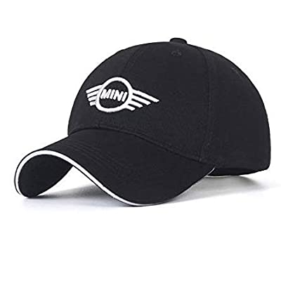 JDclubs Mini Logo Embroidered Adjustable Baseball Caps for Men and Women Hat Travel Cap Car Racing Motor Hat (Black): Automotive