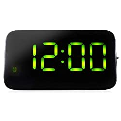 uHomee LED Digital Alarm Clock Voice Control Time Display for Home Office