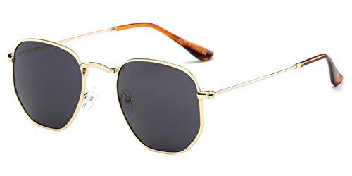 Cramilo Modern Designer Geometric Metal Frames Hexagonal Unisex Sunglasses