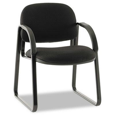 Hon - Sensible Seating Series Guest Arm Chair Tectonic Fabric Black