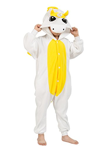 BELIFECOS Yellow Unicorn Unisex Children Unicorn Pyjamas Halloween (Run Over Halloween Costume)
