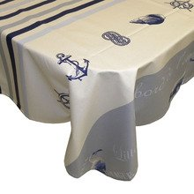 Le Cluny The Wave Coated Tablecloth, Ivory 60