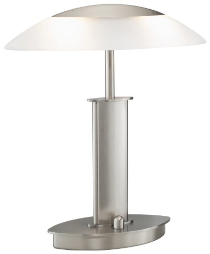 Holtkotter 6244 SN SW Halogen Table Lamp, Satin Nickel wi...