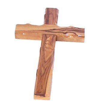 Olive Wood Chistian Cross 6 inches 16 centimeters Handcrafted in Bethlehem Holy Land Imports 0064