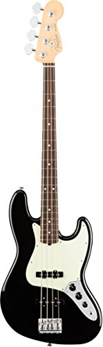 Fender American Professional Jazz Bass - Black with Rosewood Fingerboard Bass Jazz Preamps