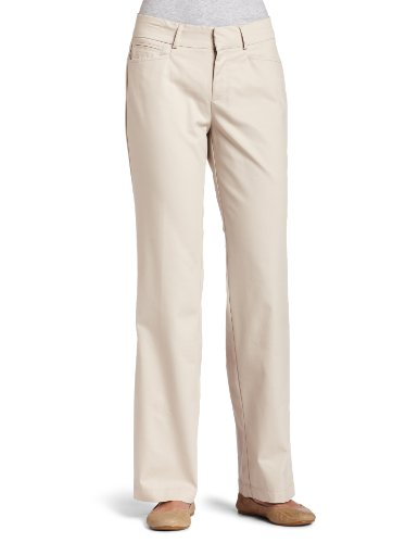 Dockers Women's Metro Trouser Pant, Sand,8 (Flat Front Twill Trousers)