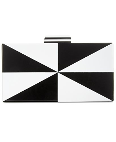 INC Womens Marei Mod Colorblock Convertible Clutch Handbag B/W Small