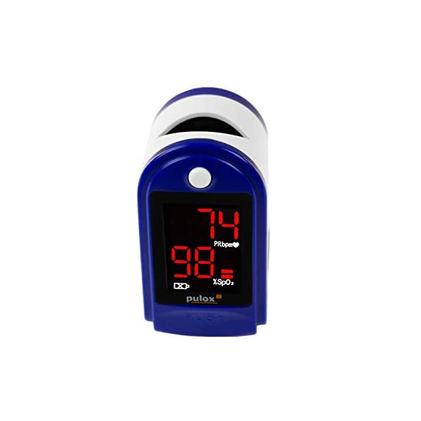 Pulox PO-100 - Oxímetro, pantalla LCD, incluye accesorios, color negro 4