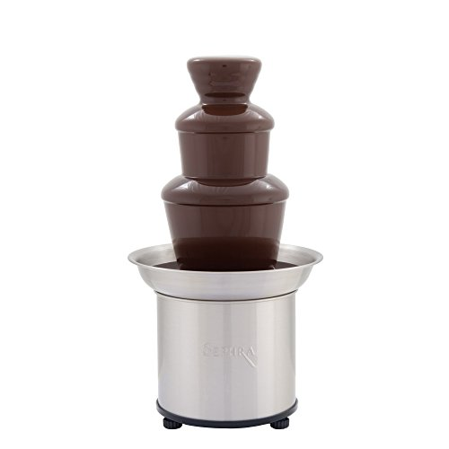 Sephra Home Fondue Fountain Chocolate Fountain Electric, Select 16-Inch Fondue Fountain Small, Stainless Steel Heated Basin, 4 lb Capacity,