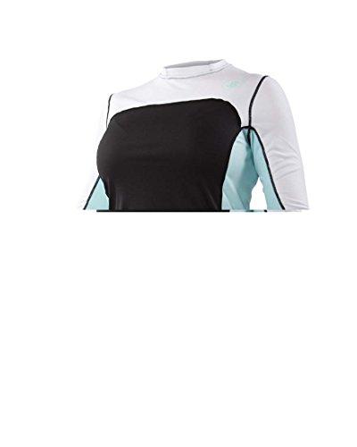 Body Glove Women's Performance Loose Fit Long Sleeve Shirt, Blue Tint/Black, Large