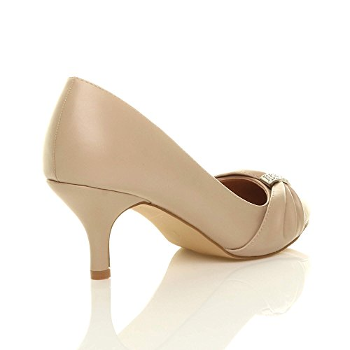 vestir de para Ajvani Matte mujer Nude Zapatos q6f0x0wE