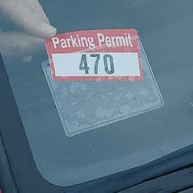 Amazon Com Parking Permit Holder Sticky Back For