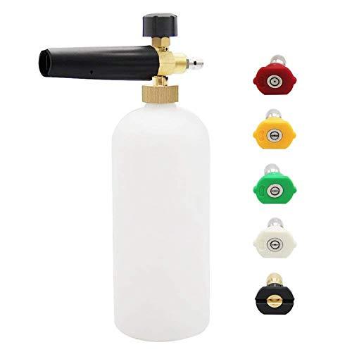 Foam Cannon Upgrade Foam Nozzle Pressure Washer Jet Wash Snow Foam Lance With 1/4 Inch Quick Connector Foam Blaster 5 Pressure