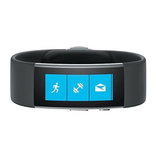Microsoft Band 2 - Monitor de actividad (Bluetooth 4.0, AMOLED, Li-po), color negro (importado) - Tamaño M