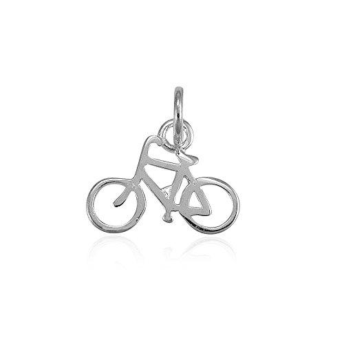 .925 Sterling Silver 3D Bike Charm