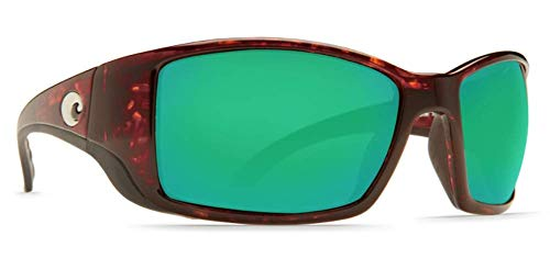 Costa Del Mar Blackfin Sunglasses, Tortoise, Green Mirror 580 Plastic Lens