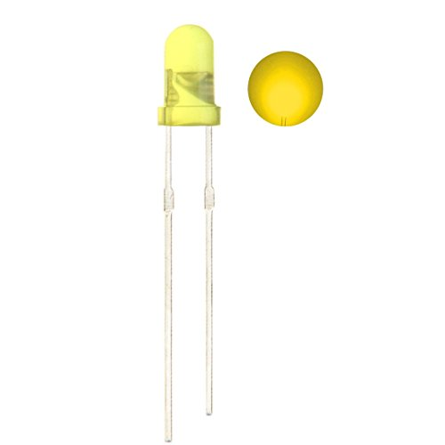 CO RODE 100 Pieces Ultra Bright 3mm LED Diode Light Emitting Diode (Yellow)