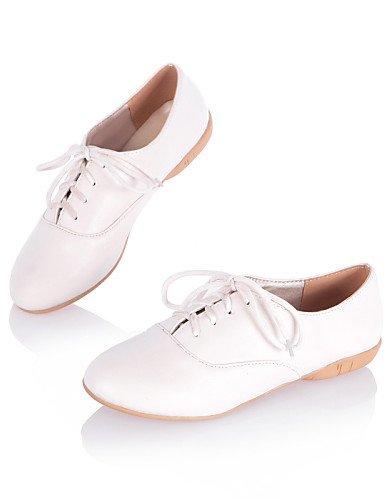 Bout Femme Similicuir Njx Cn34 Plat Arrondi Rose Chaussures us5 Uk3 Pink Richelieu Blanc Talon Noir Décontracté Hug Eu35 qRRFw4z