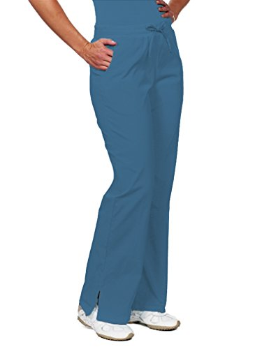 - NU Dimension Women Waistband Mid-Rise Scrub Pant-Regulr-XL-CAD Cadet Blue