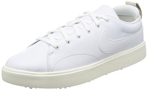 Nike Men's Course Classic Golf Shoes (Wide) (9 2E, White/Sail/Black)