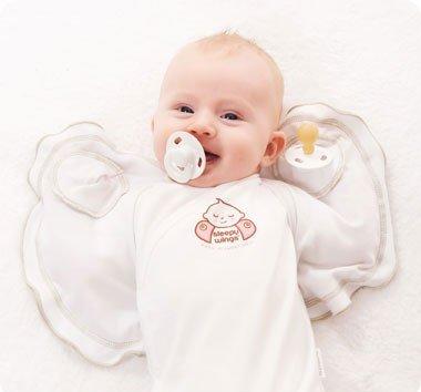 Sleepy Wings Swaddling Jacket, Organic Cotton (X-LARGE 20lbs+) by Sleepy WingsTM