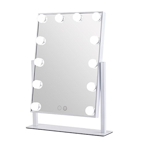 Geek-House Tabletops Lighted Makeup Mirror Hollywood Style with LED Bulb & Dimmer USB Powered Valentine's Day Gift - Geek Buy Glasses