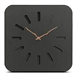 FlorLife Wooden Modern Wall Clock 12 Battery Operated Silent & Non-Ticking Analog Wall Clock Office Decor Vintage European Style Kitchen Wall Clocks with Wood Frame