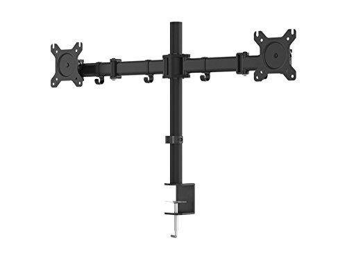 Monoprice Essential Dual Monitor Articulating Arm Desk Mount | 180° Swivel, 360° Rotation
