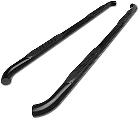 """Double Cab 3/"""" Black Running Boards Side Siteps For 1999-2018 Sierra Extended"""