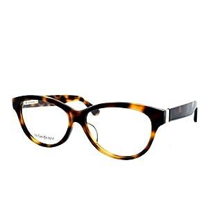 YSL Saint Laurent YSL 4031J BGJ Havana Brown full rim oval eyeglasses